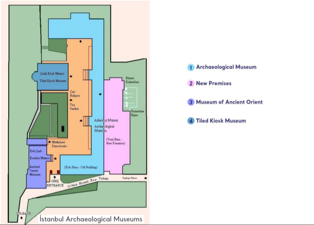 イスタンブール考古学博物館 マップ 地図