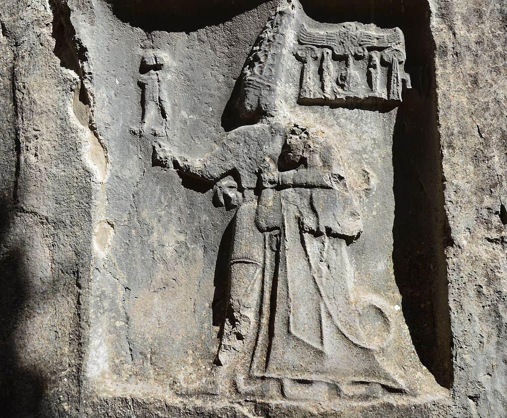 ヤズルカヤ遺跡のレリーフ