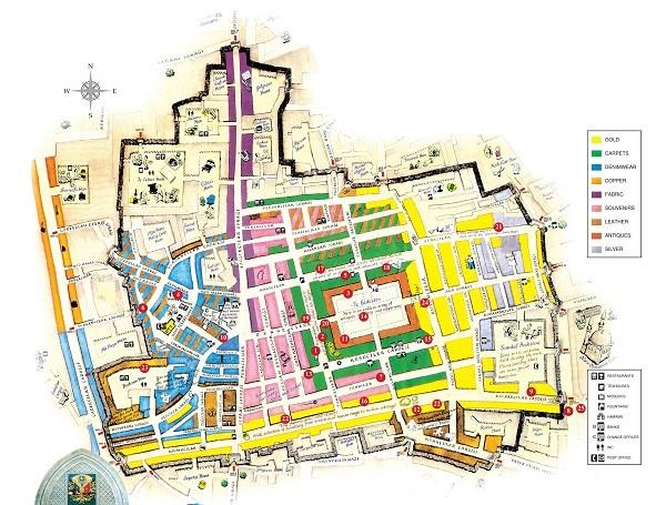 グランド・バザール観光マップ