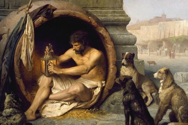 哲学者のディオゲネス (土:Diyojen、英:Diogenes)