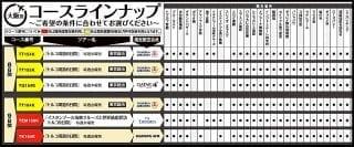大阪発トルコツアー・観光内容コースラインナップ表