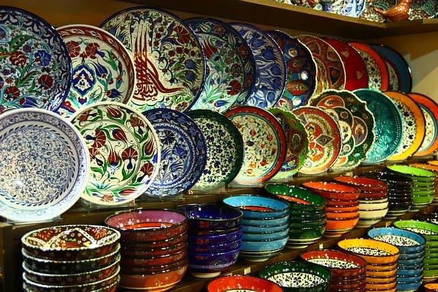 トルコ 陶器の皿