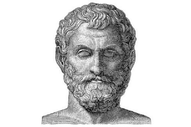哲学者のタレス (土-英:Thales)