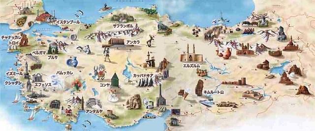 トルコ観光地図